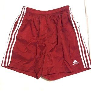 Adidas Men's VTG Red Soccer Shorts Medium